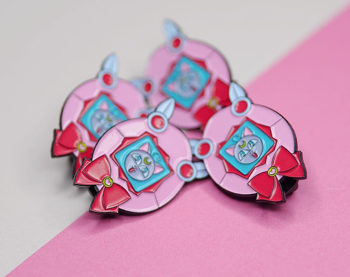 Featured listing image: Chibigotchi - Sailor Chibi, Chibiusa, Luna P, Tamagotchi  Soft Enamel Pin