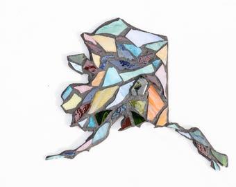 Colorful State Of Alaska Mosaic