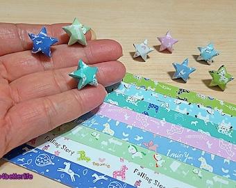 Pack of 250 strips of DIY Origami Lucky Stars Paper Folding Kit. 26cm x 1.2cm. (XT Paper Series). #HLX13.