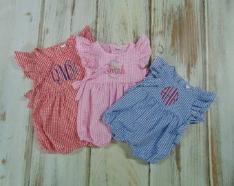 Monogram Rompers- Cute Summer Baby Rompers- Summer Rompers for Your Little One
