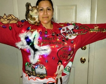 Ready to ship WINNER!!! LIGHT UP Ugly Christmas sweater, Christmas Vacation 2XL