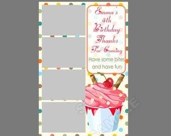 50% off,cute photo booth template,instant download,1st birthday,cupcake birthday,fun birthday idea,kids birthday, cupcake party idea,