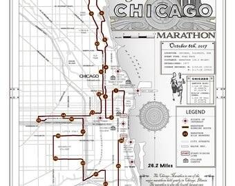 Chicago marathon Etsy