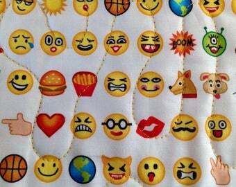Emoji bedding etsy for Emoji fabric