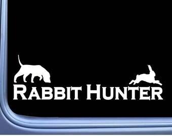rabbit hunting decal etsy