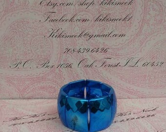 Metallic Blue Stretch Bracelet