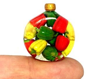 Dollhouse miniature 1/12 Pickled bell pepper!!