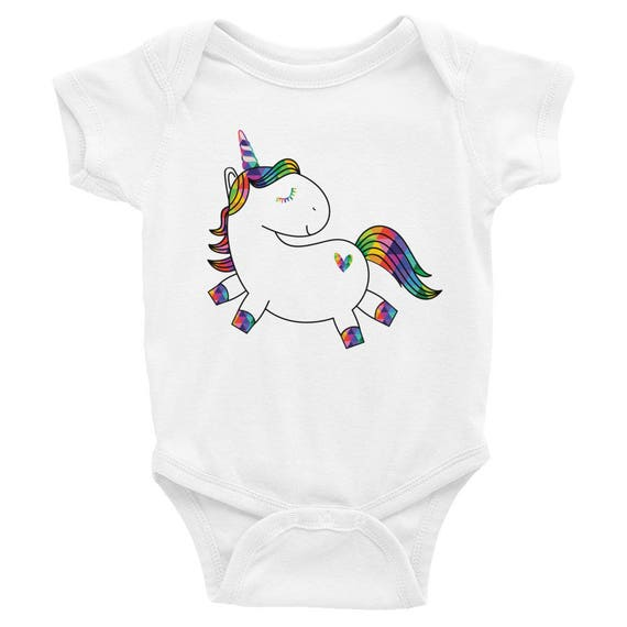 Unicorn Baby Onesie - Infant Apparel - Colorful Unicorn - Cute Unicorn Onesie, Baby Shower Gift, Baby Girl Gift, Unicorn Baby Clothes