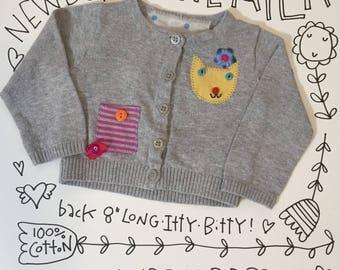 newborn repurposed cardigan