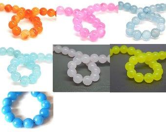 5 genuine natural 8mm //coloris choice jade beads