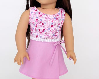 18 inch girl doll clothes - Summer Fun:  Wrap skirt and crop blouse