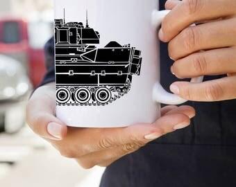 KillerBeeMoto: U.S. Made Coffee Mug  With M2 Bradley Fighting Vehicle