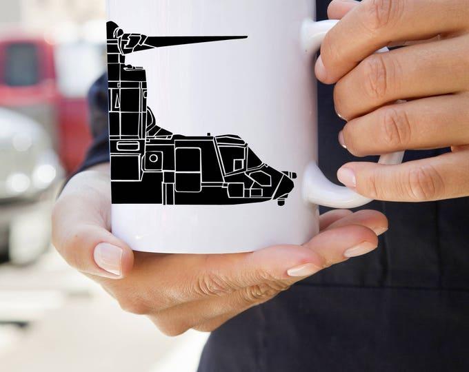 KillerBeeMoto: U.S. Made Bell Boeing V-22 Osprey Tiltrotor Aircraft Coffee Mug