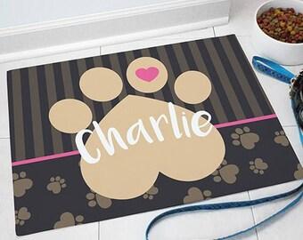 Personalized Pet Food Mat, Floor Mat