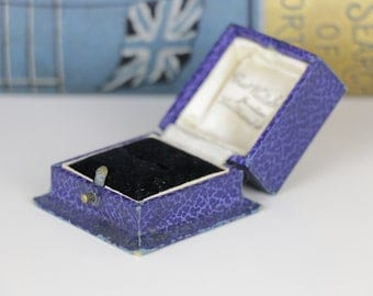 Vintage Blue Ring Box