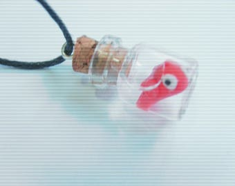 PENDANT JAR AS A FISH IN THE WATER FIMO