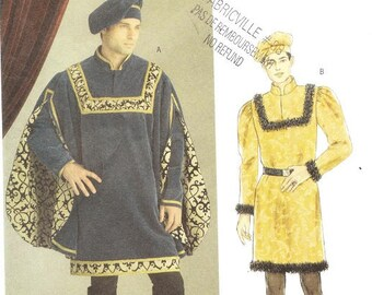 Butterick 5116 Men's Renaissance Costume Pattern, XL-XXXL