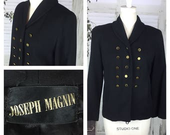 Original Vintage 1950's Joseph Magnin Black Jacket Coat