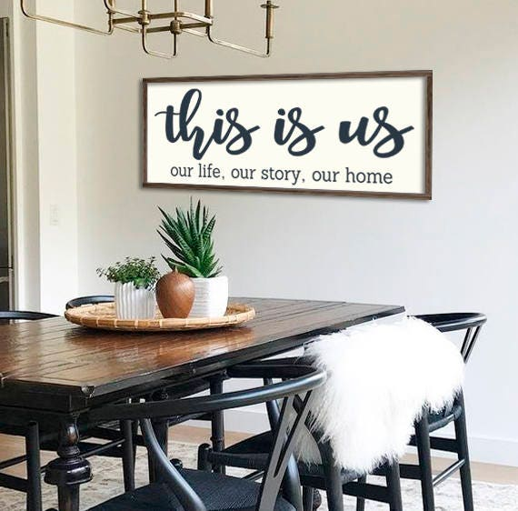This Is Us Home Decor Farmhouse Sign Gallery Wall Decor