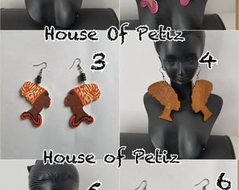 Painted Wooden Dangle Earrings