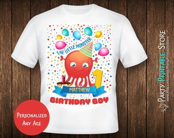1st Birthday Shirt Monster, First Birthday Shirt, Monster Birthday Shirt, First Birthday Shirt Halloween, Birthday Shirt Iron On Transfer