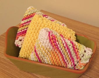 Knitted Washcloths (Set of 3)