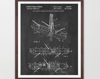 Deepwater Drilling Ship - Oil - Oil Patent - Oil Rig - Oil Derrick - Offshore Drilling - Offshore Drilling Rig - Oil Ship - Oil Art