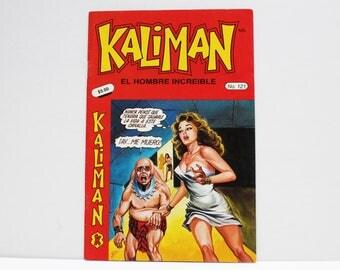 Kaliman El Hombre Increible No 121 El Faraon Sagrado Revista en Español Comic Book in Spanish RARE