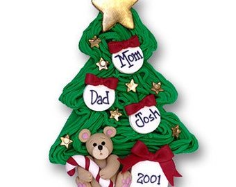 Christmas Tree Personalized Family Ornament