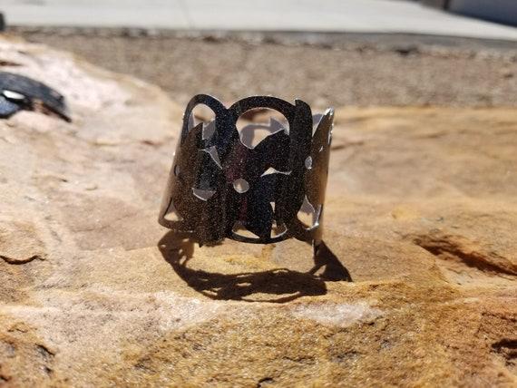 Sparkle Vinyl Cuff Bracelet - Flower Vines