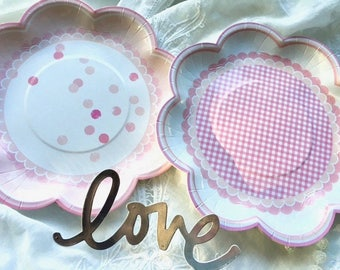 Paper Plates - Party Plates - Cake Plates - Bridal Shower - Baby Shower - Birthday Party - Wedding Plates - Tea Party - Dessert Plates -