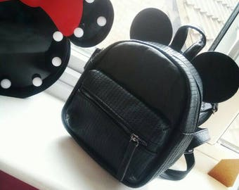 Mickey Mouse Minnie Mouse Backpack Disneyland Disney Bounding Bag Black Medium Bag