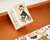Cycling / Original Rubber Stamp / Designed by Krimgen