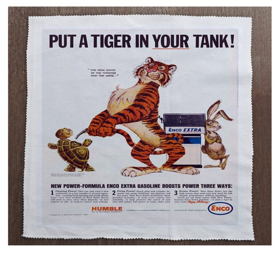 Esso Put a Tiger In Your Tank Advertisment Sewing