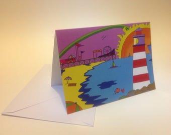 Beside the Seaside - Greeting card