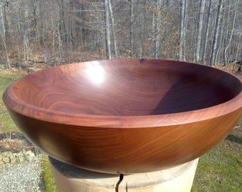 Handmade reclaimed black walnut wood bowl. The perfect wedding gift.
