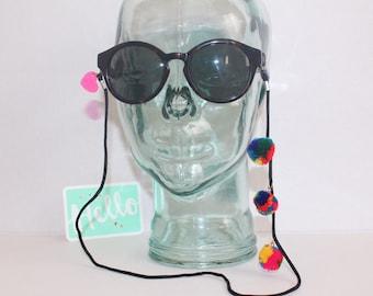 Pompom multicolor sunglass straps