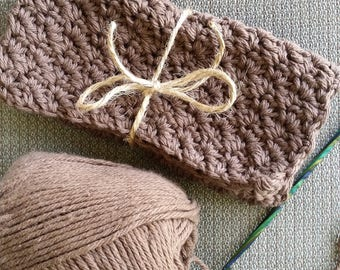 100% Cotton Dishcloths (Brown), Crochet Dishcloths, Cotton Crochet Dishcloths