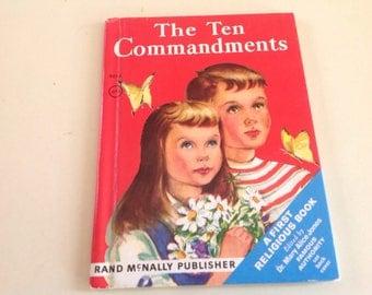 Vintage Rand McNally The Ten Comandments