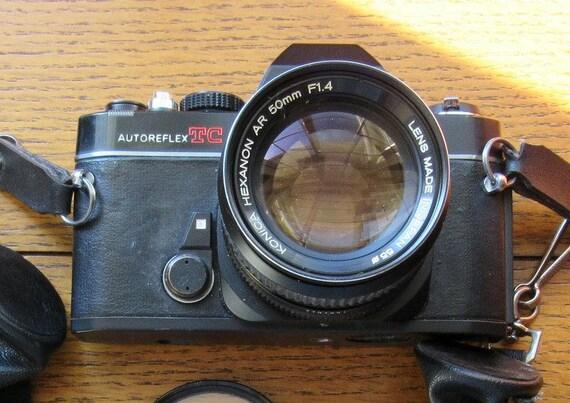 Konica AutoReflex 1970 Camera and Camera Bag