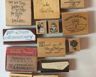 Wedding/Anniversary Wood/Rubber Stamps