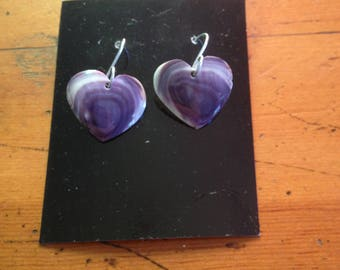 Wampum Small Heart Earrings