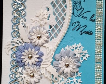 "card scrap ""live the bridegrooms"" blue and white"