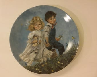 Jack And Jill Vintage Collectors Plate, Reco Mother Goose Plate Rhyme, 1986