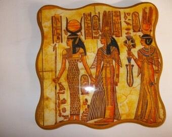 Flat decorative Egyptian pattern coasters