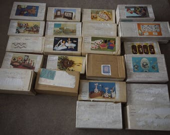 National Handcraft Society kit Fad of the Month club 1970's Lot 22 pc craft kits