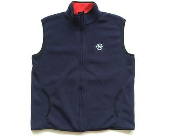 Vintage nautica competition fleece vest size xl polyester nautica spell out full zip vest 3M reflective