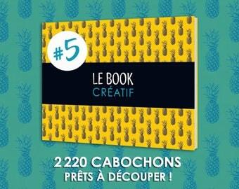 Le BOOK Créatif #5 Livre planches d images imprimées 2220 cabochons à découper cabochon bijoux revue papier qualité dechire fete bijoux chat