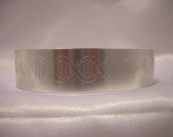 Engraved Cuff Bracelet DNA Science