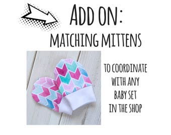 Newborn Mittens, baby mittens, no scratch mittens, baby mitts, new baby gift, boy mittens, girl mittens